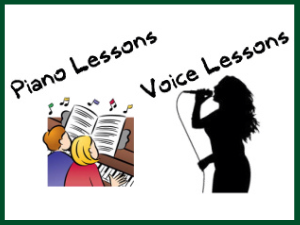 2''w x 1.5''h piano & voice lessons